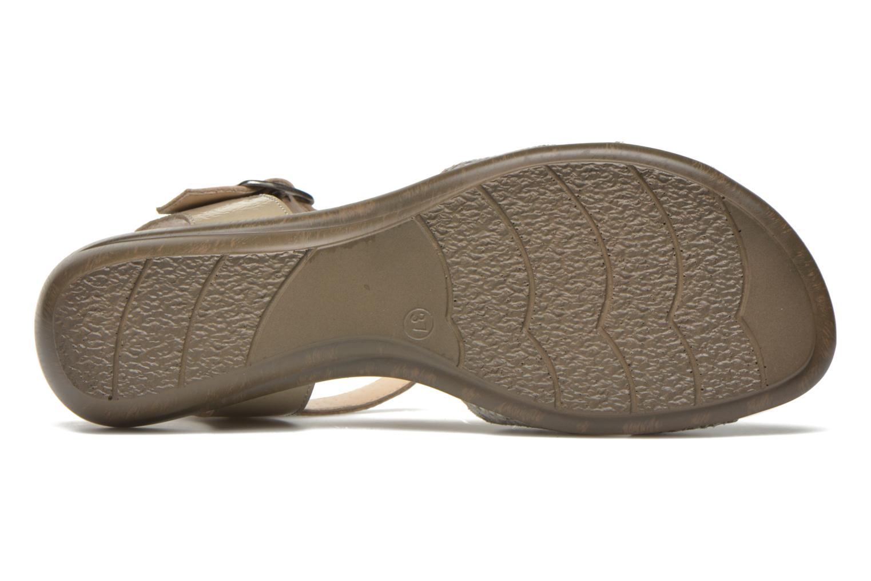Sandales et nu-pieds Sweet Zoumba Beige vue haut