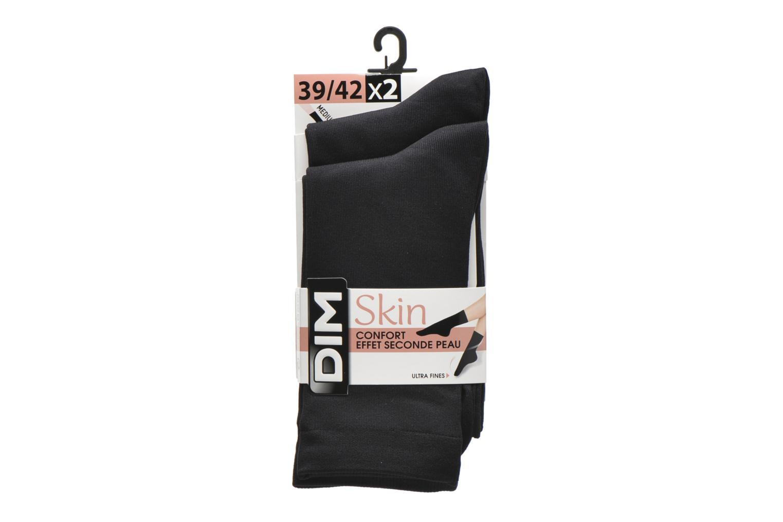 Chaussettes et collants Dim Chaussettes Skin Pack de 2 Noir vue derrière