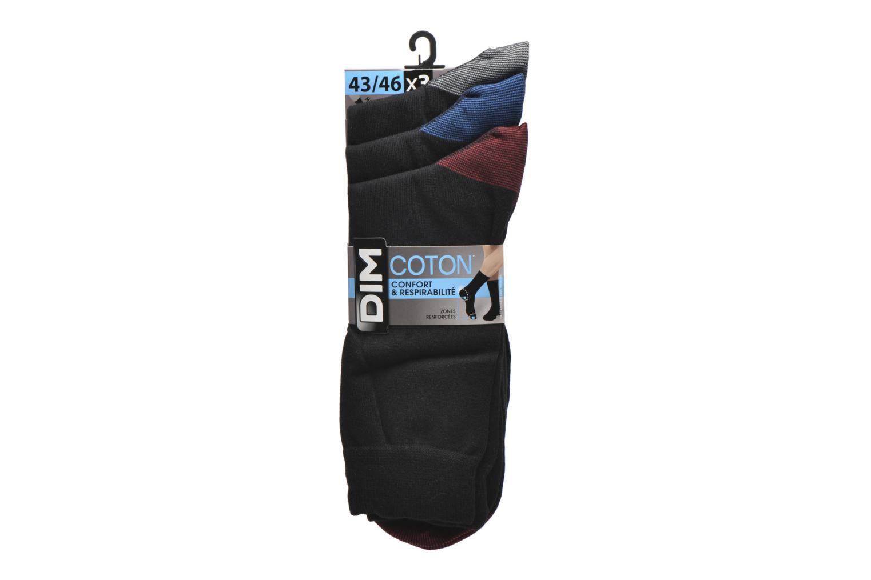 Chaussettes et collants Dim Chaussettes Mix & Match Pack de 3 Noir vue derrière