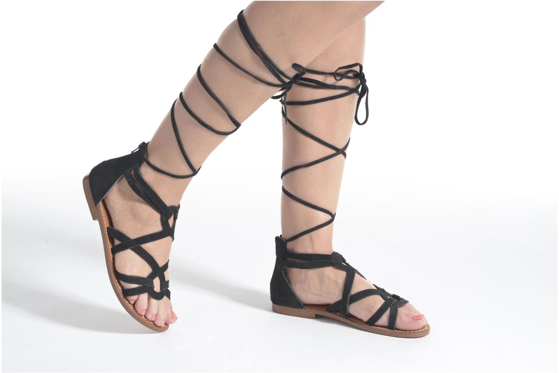Sandals L'Atelier Tropézien Josette Beige view from underneath / model view