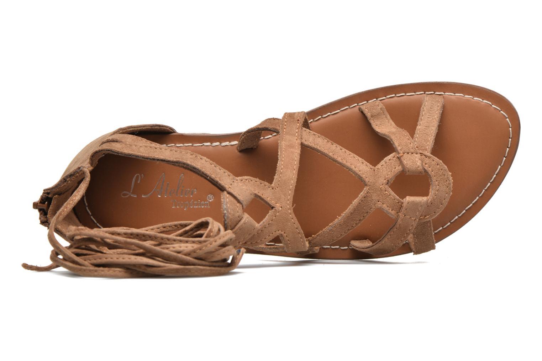 Sandali e scarpe aperte L'Atelier Tropézien Josette Beige immagine sinistra