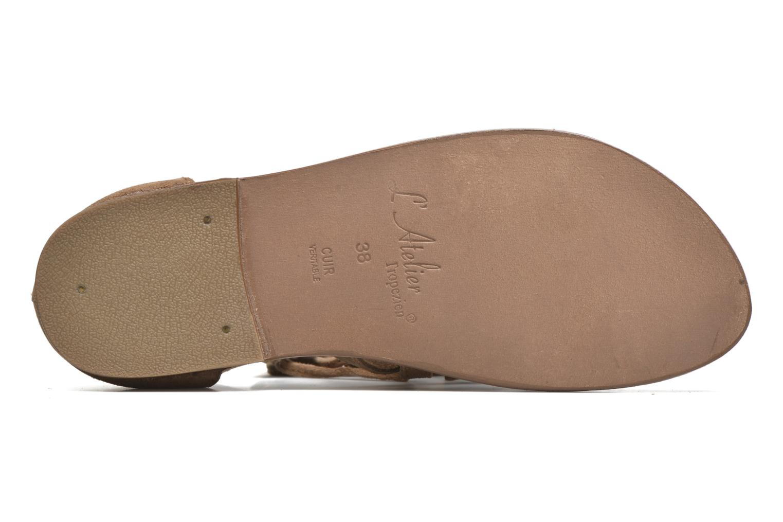 Sandali e scarpe aperte L'Atelier Tropézien Josette Beige immagine dall'alto