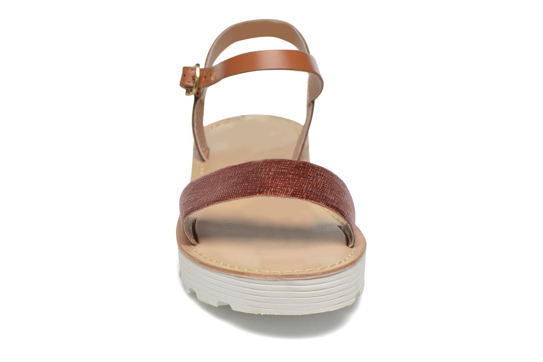 Sandales et nu-pieds L'Atelier Tropézien Guillemette Rouge vue portées chaussures