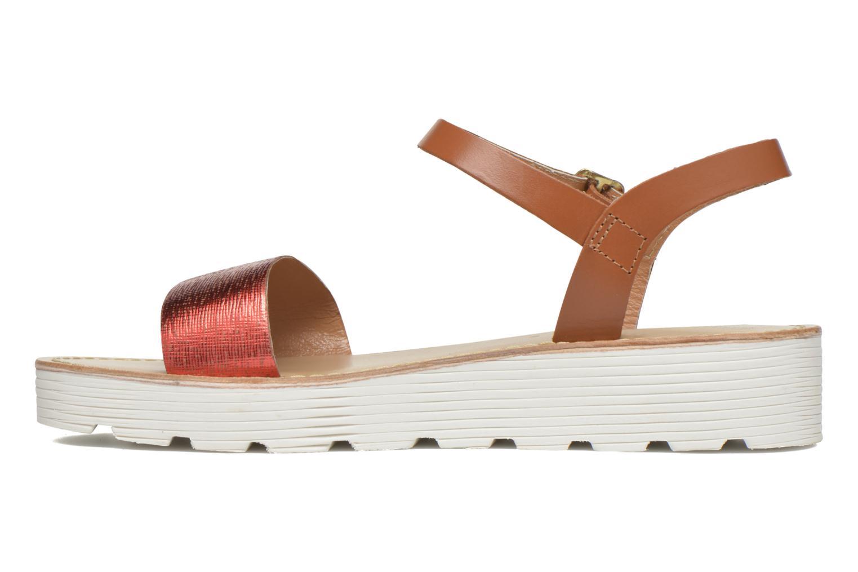 Sandales et nu-pieds L'Atelier Tropézien Guillemette Rouge vue face