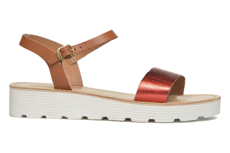 Sandales et nu-pieds L'Atelier Tropézien Guillemette Rouge vue derrière