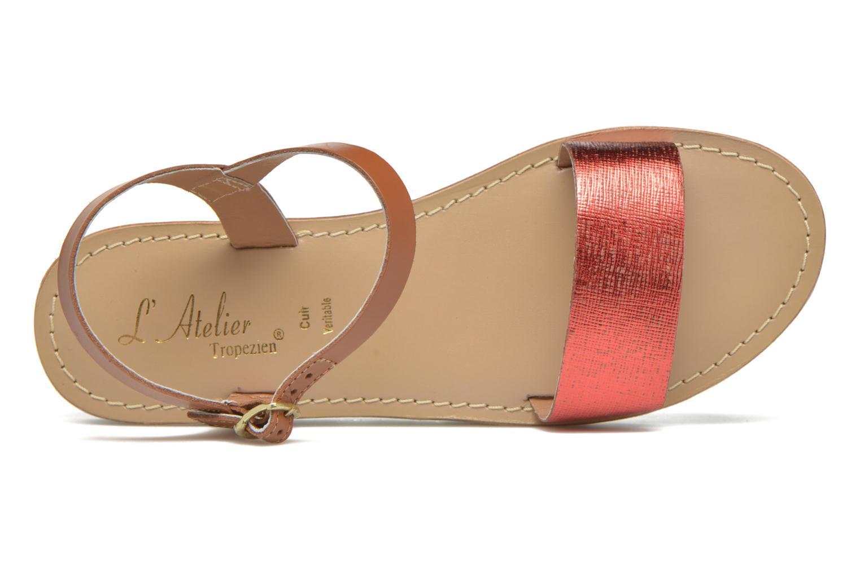 Sandales et nu-pieds L'Atelier Tropézien Guillemette Rouge vue gauche