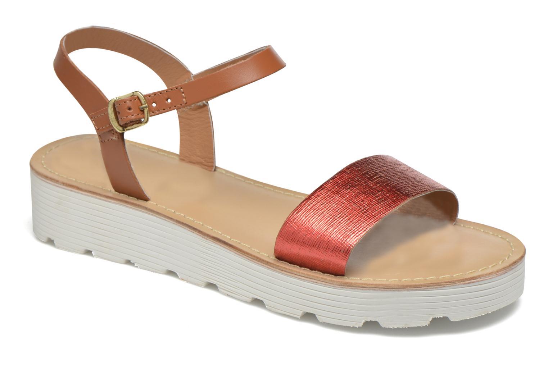 Sandales et nu-pieds L'Atelier Tropézien Guillemette Rouge vue détail/paire