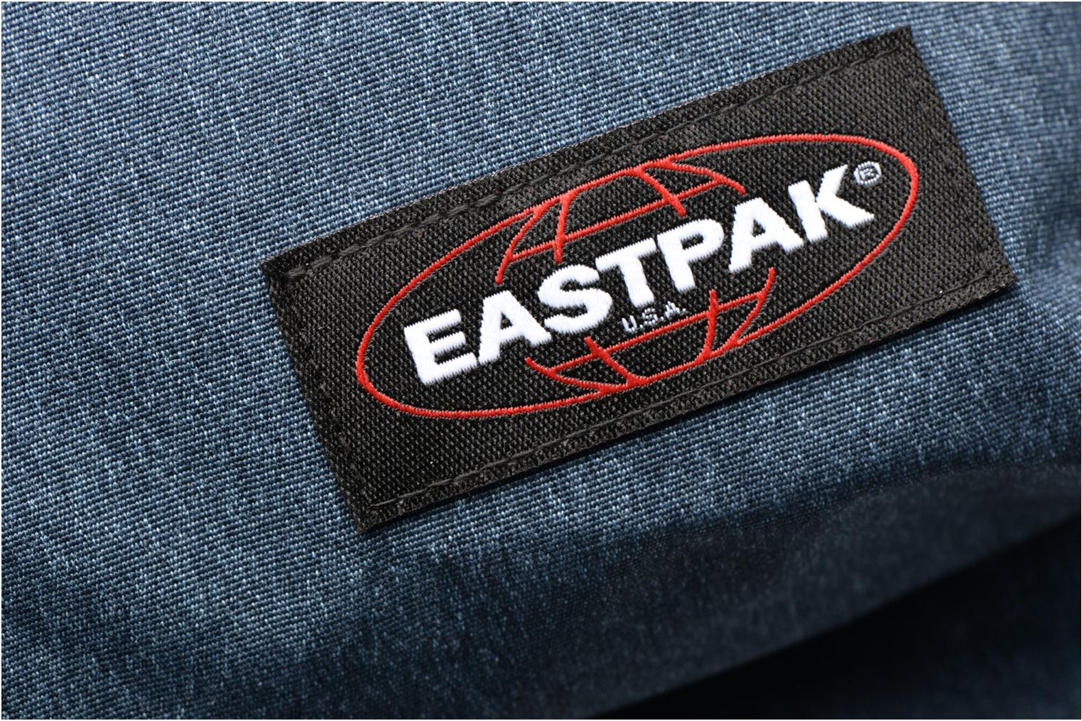 School bags Eastpak OUT OF OFFICE Sac à dos toile Blue view from the left
