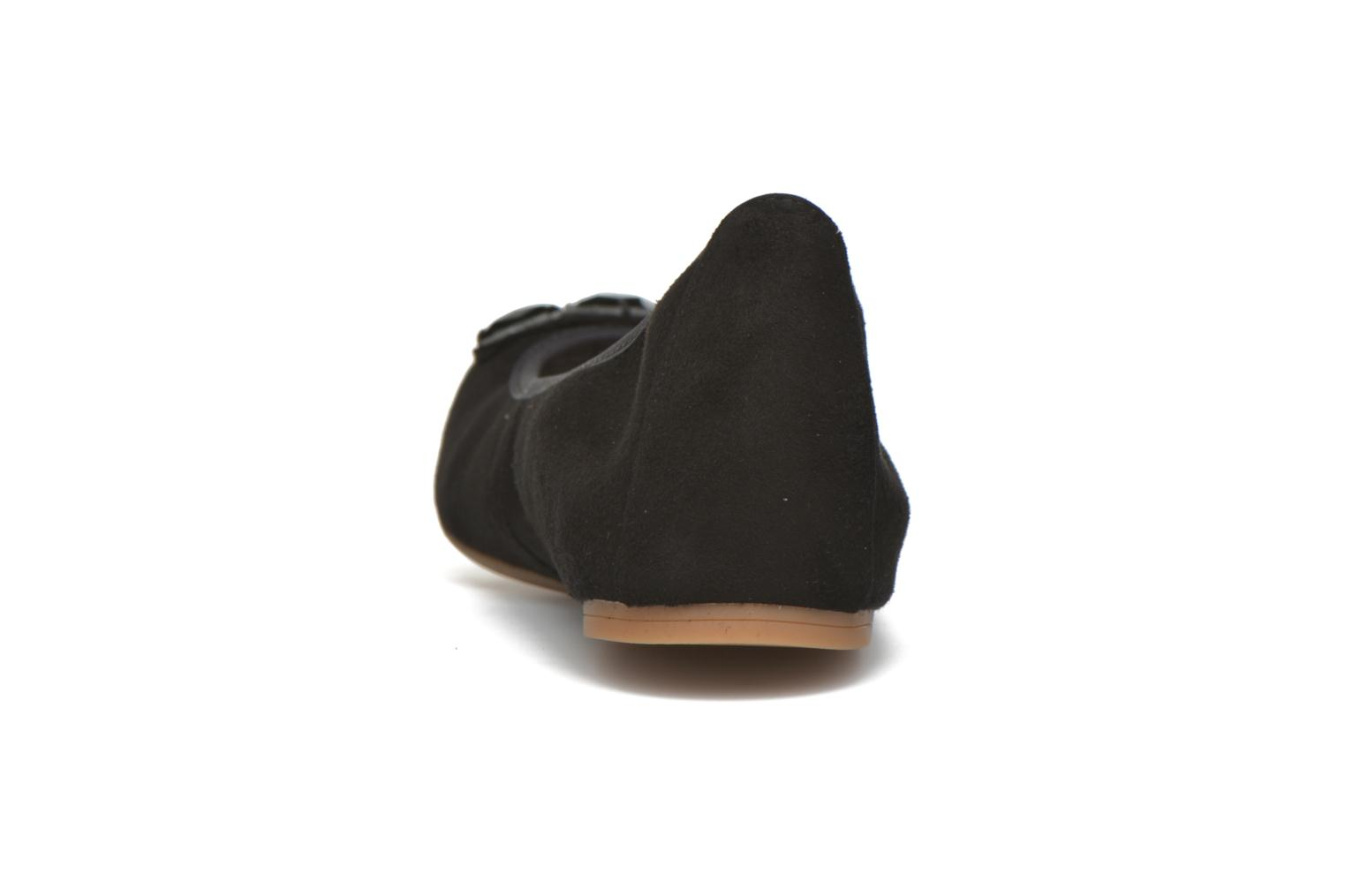 Ballet pumps Unisa Anti Black view from the right