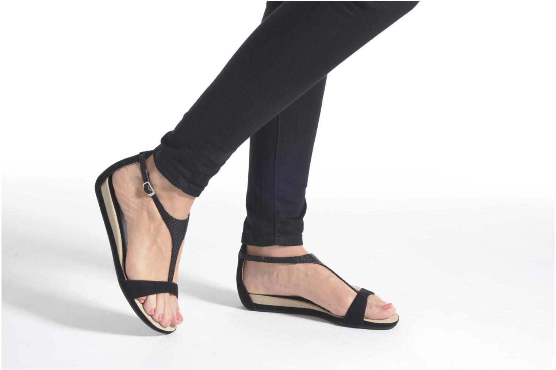Sandales et nu-pieds Unisa Asunta Or et bronze vue bas / vue portée sac
