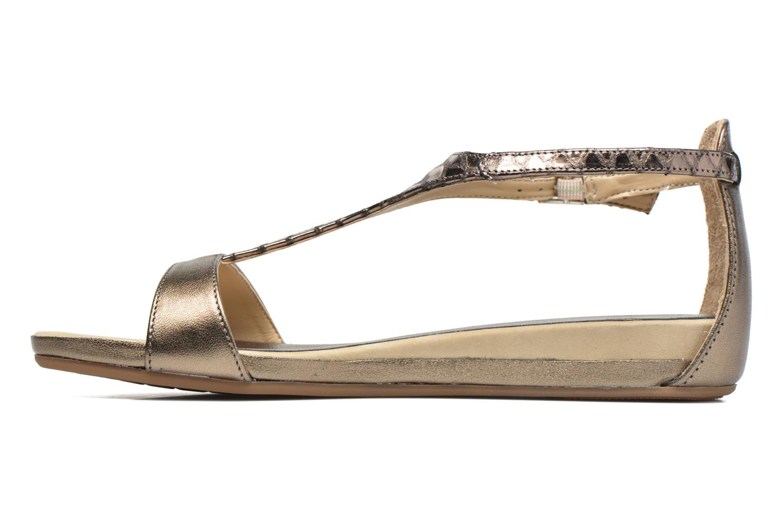 Sandales et nu-pieds Unisa Asunta Or et bronze vue face