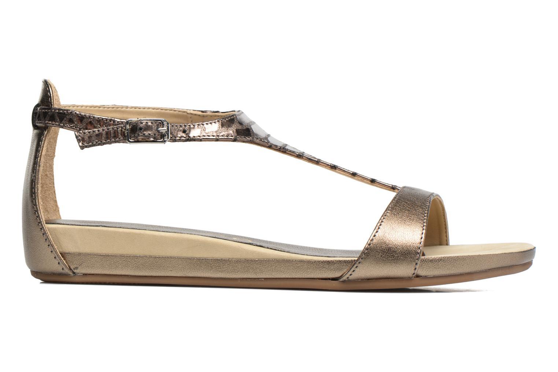 Sandales et nu-pieds Unisa Asunta Or et bronze vue derrière