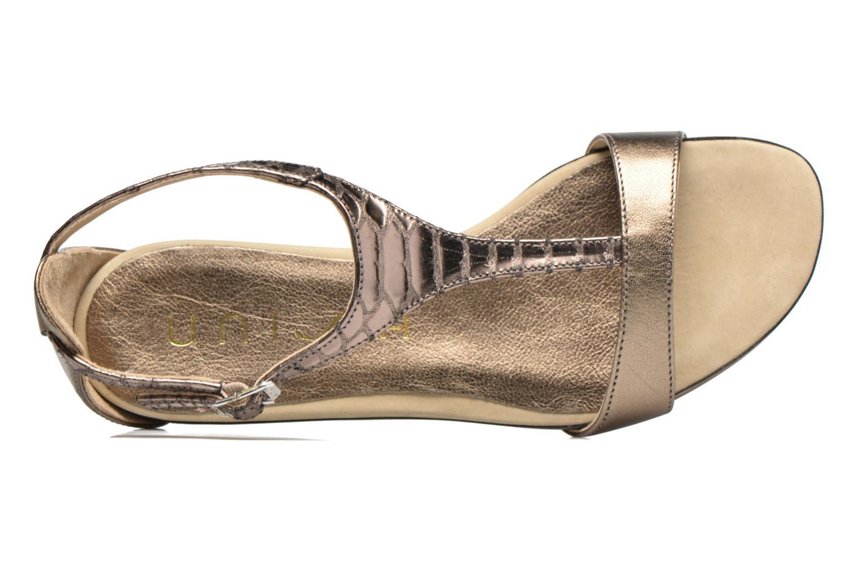 Sandales et nu-pieds Unisa Asunta Or et bronze vue gauche