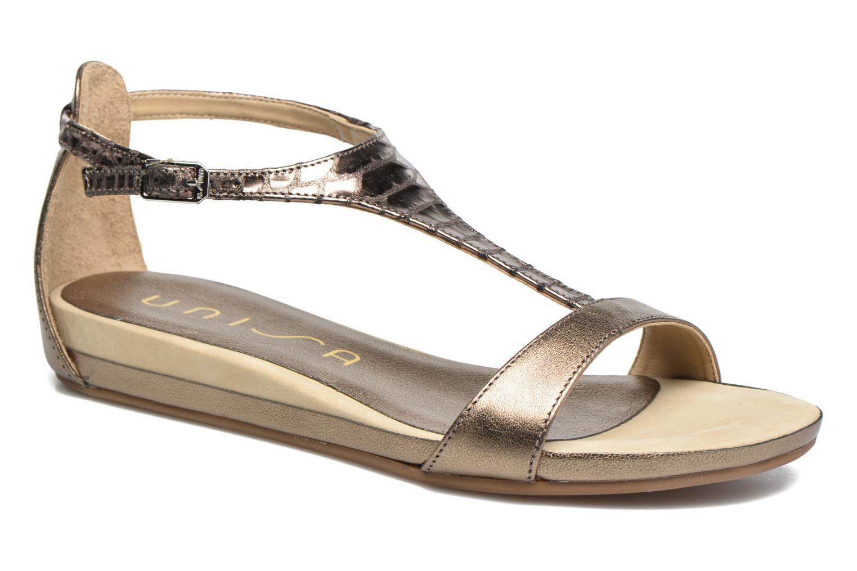 Sandales et nu-pieds Unisa Asunta Or et bronze vue détail/paire