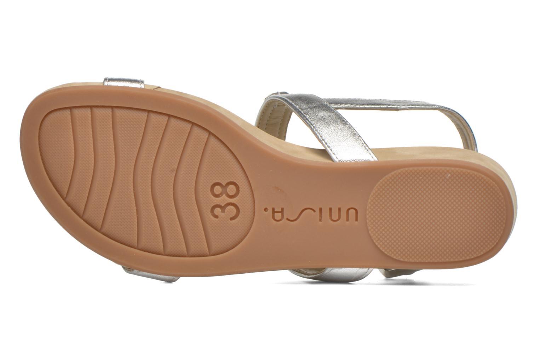 Sandales et nu-pieds Unisa Bastian Argent vue haut