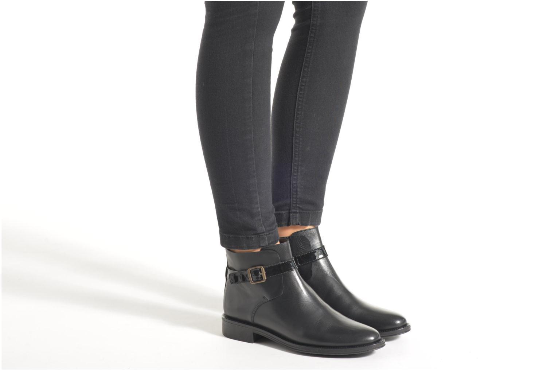 Bottines et boots Schmoove Woman Newton buckle Noir vue bas / vue portée sac