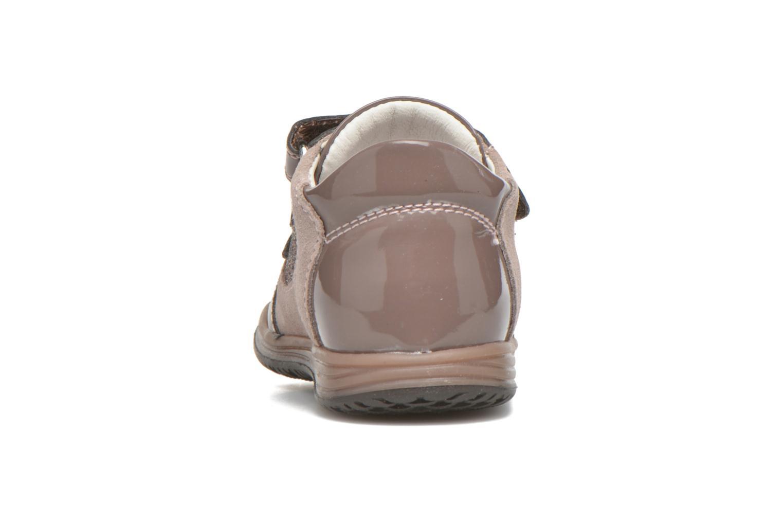 Zapatos con velcro Primigi Ghigo 7 Marrón vista lateral derecha