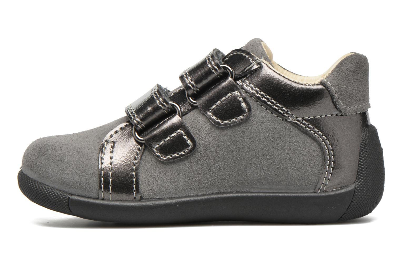 Chaussures à scratch Primigi Anastasia Gris vue face