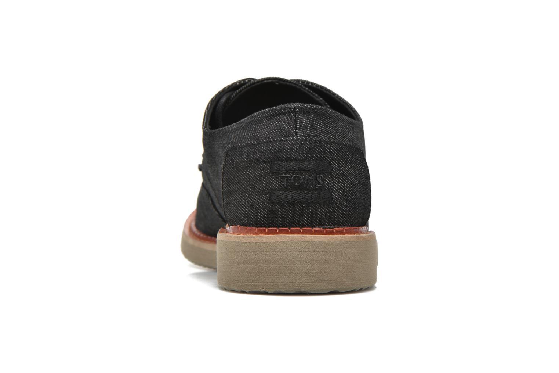 Chaussures à lacets TOMS Brogue Gris vue droite