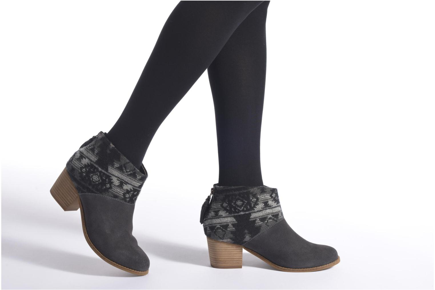 Leila bootie Black Suede Dotted
