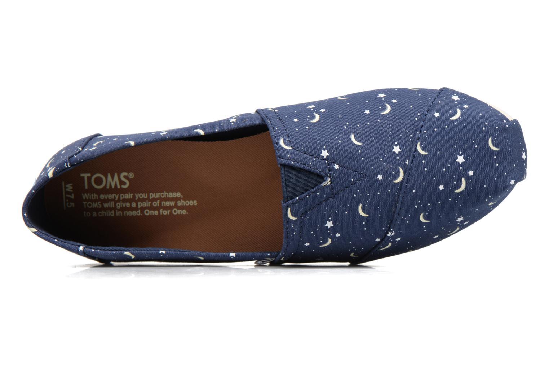 Mocasines TOMS Seasonal classics W Azul vista lateral izquierda