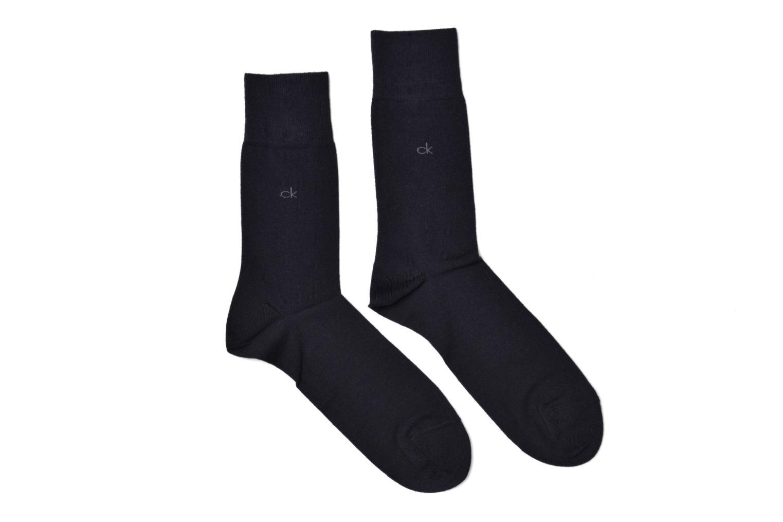 Socken & Strumpfhosen Calvin Klein Lot de 2 paires de Chaussettes Coton Unies blau detaillierte ansicht/modell