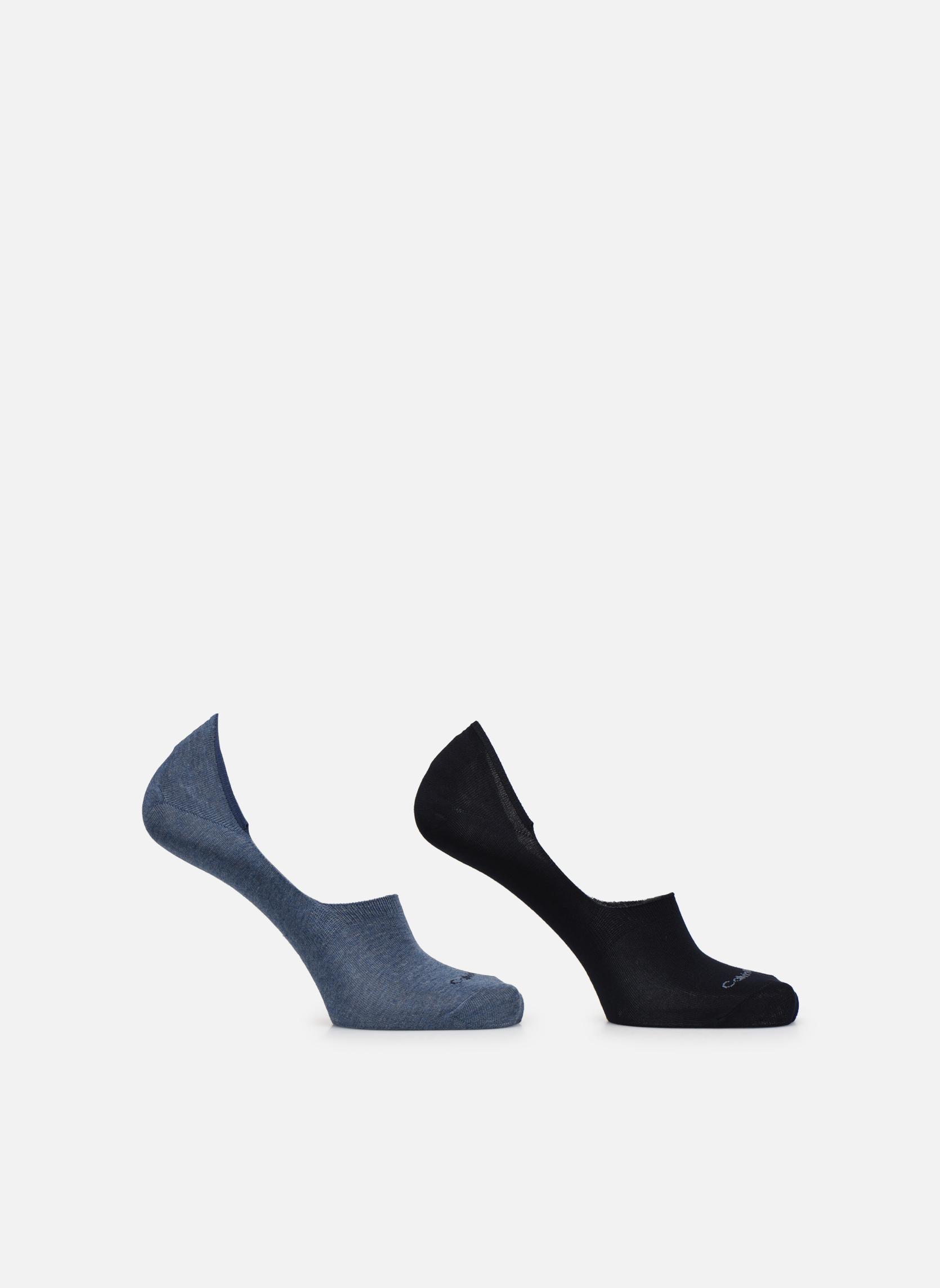 Lot de deux paires de Chaussettes Invisibles Unies
