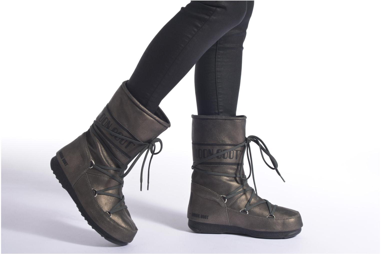 Bottines et boots Moon Boot We Caviar Lux Gris vue bas / vue portée sac