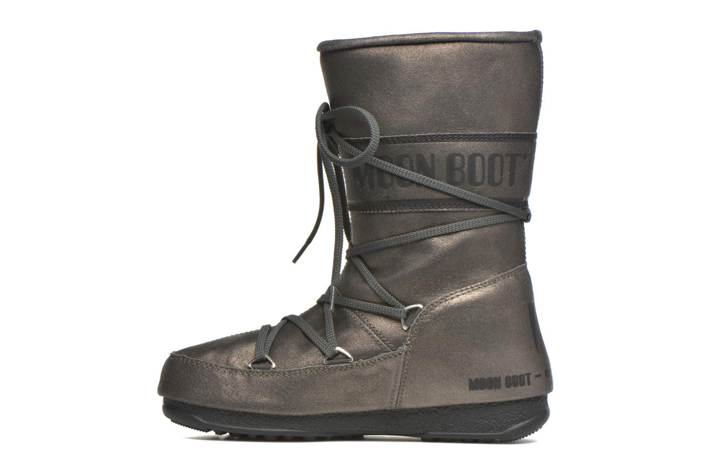 Bottines et boots Moon Boot We Caviar Lux Gris vue face
