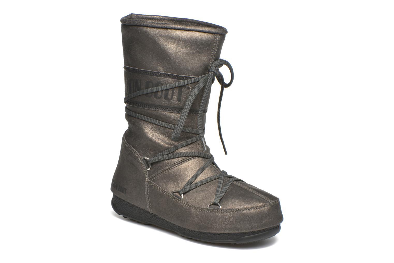 Bottines et boots Moon Boot We Caviar Lux Gris vue détail/paire