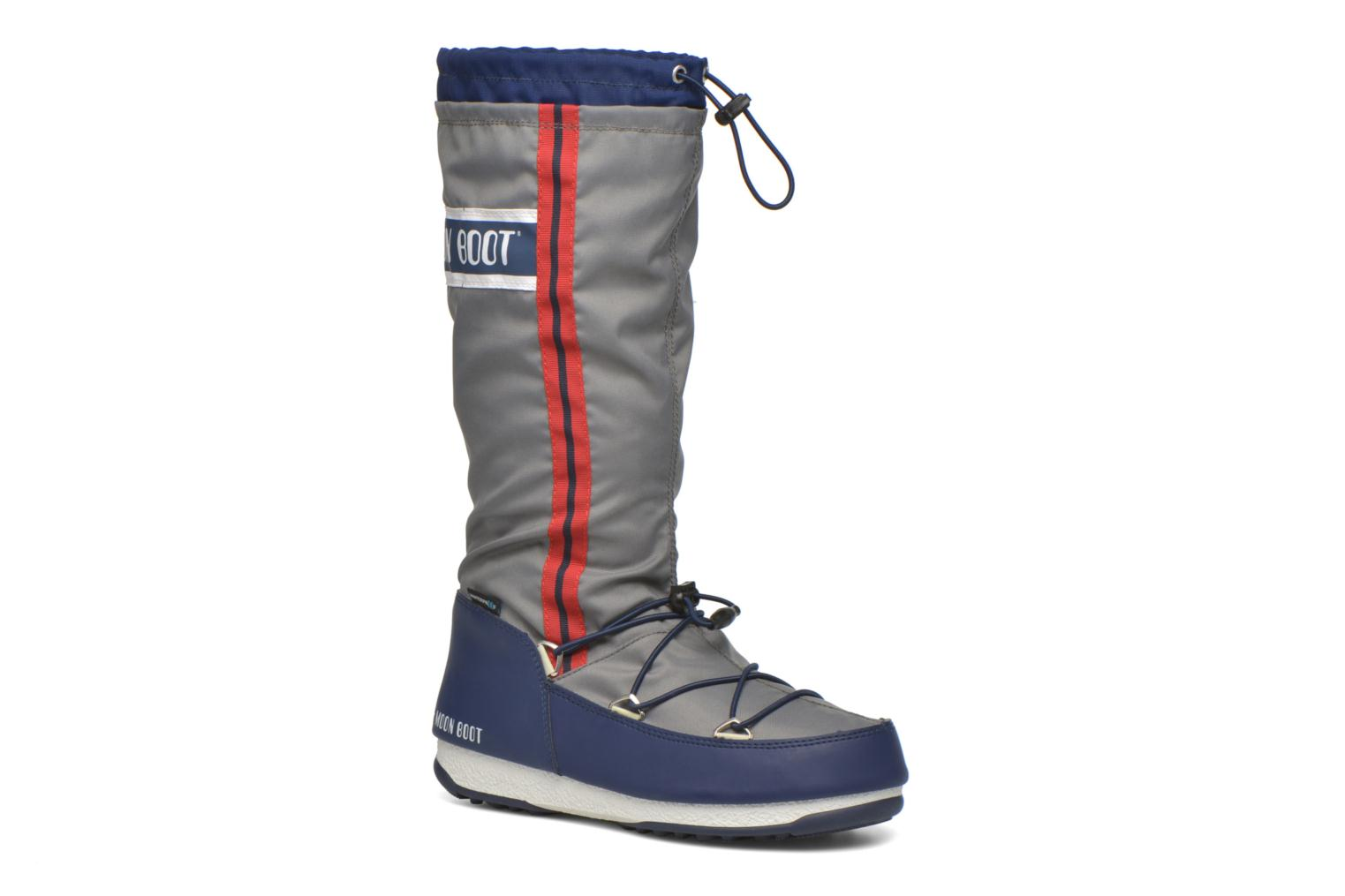Bottes Moon Boot We Waterfall Gris vue détail/paire