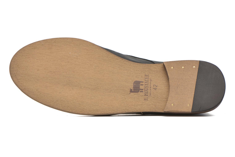 Chaussures à lacets M. Moustache Armand Noir vue haut