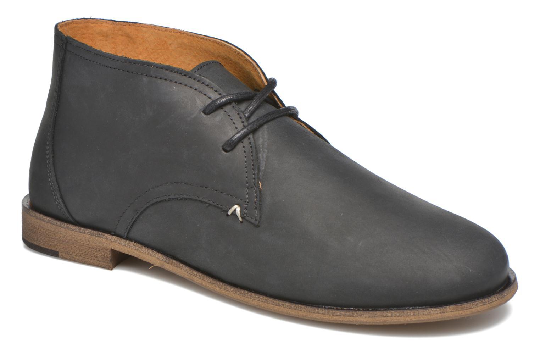 Chaussures à lacets M. Moustache Armand Noir vue détail/paire
