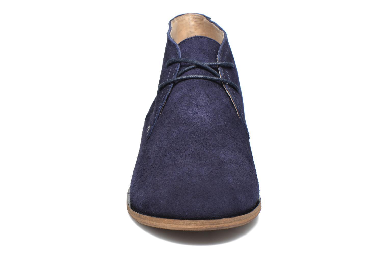 Chaussures à lacets M. Moustache Armand Bleu vue portées chaussures