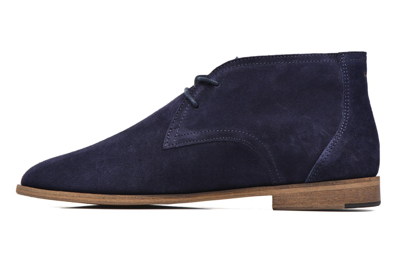 Chaussures à lacets M. Moustache Armand Bleu vue face
