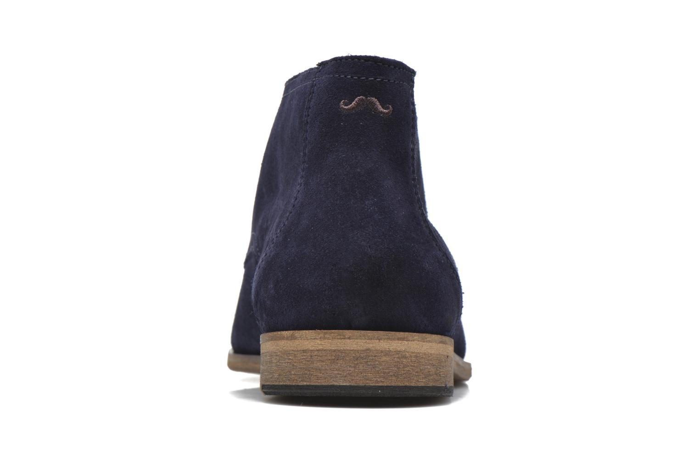 Chaussures à lacets M. Moustache Armand Bleu vue droite