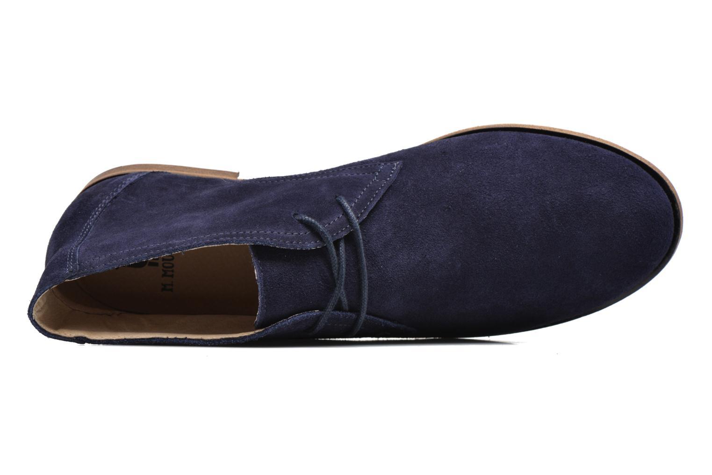 Chaussures à lacets M. Moustache Armand Bleu vue gauche