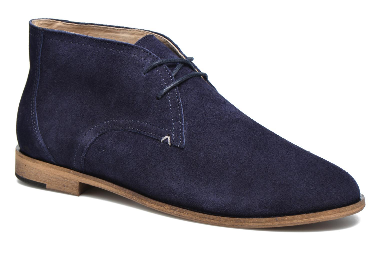 Chaussures à lacets M. Moustache Armand Bleu vue détail/paire