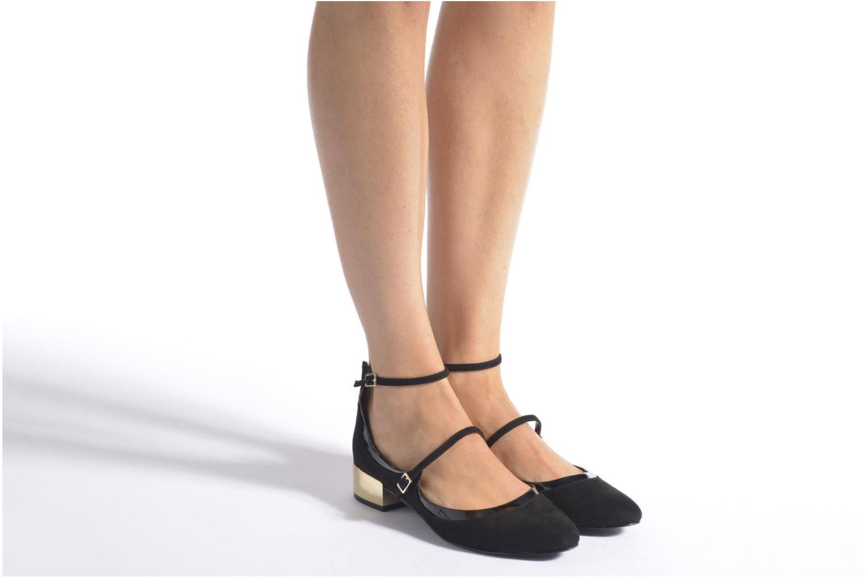 Ballerinas Aldo AMBROSEA schwarz ansicht von unten / tasche getragen