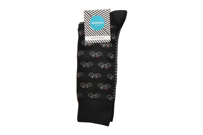 Chaussettes et collants Sarenza Wear Chaussettes vélos Pack de 2 Homme coton Noir vue derrière