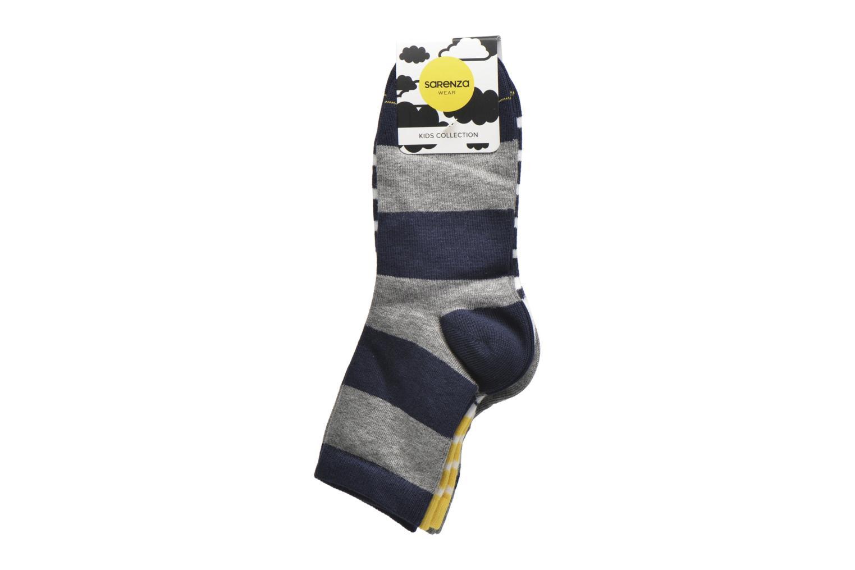 Chaussettes et collants Sarenza Wear Chaussettes motif Pack de 3 enfant coton Bleu vue derrière