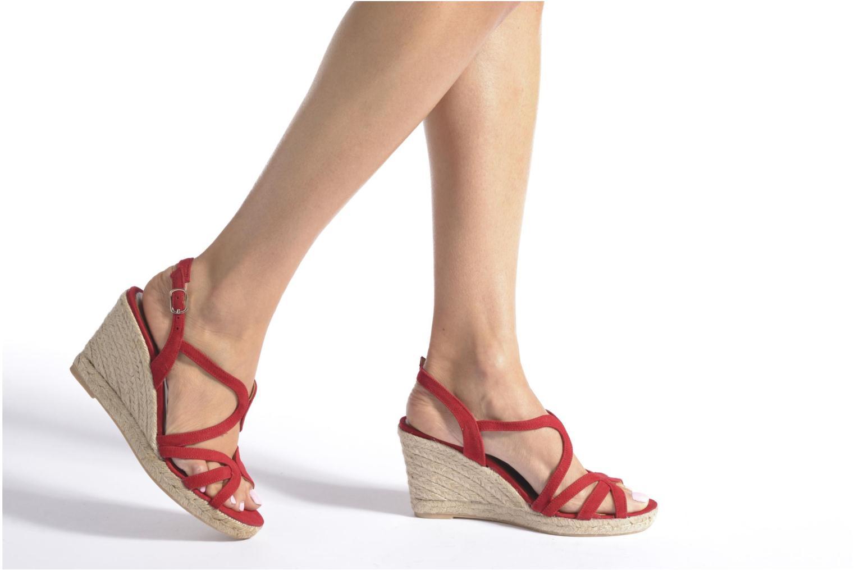 Sandales et nu-pieds Maypol Nopper Rouge vue bas / vue portée sac