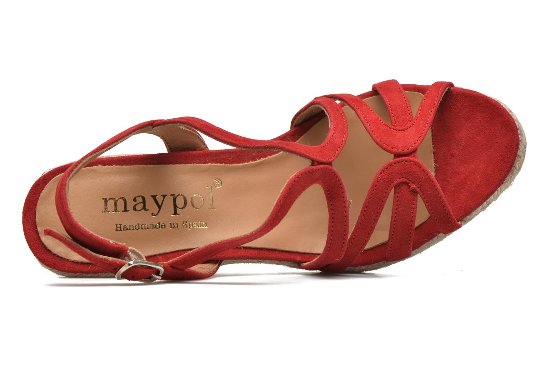 Sandales et nu-pieds Maypol Nopper Rouge vue gauche