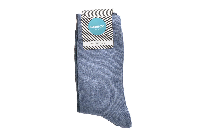 Chaussettes et collants Sarenza Wear Chaussettes Pack de 3 Homme Coto... Bleu vue derrière