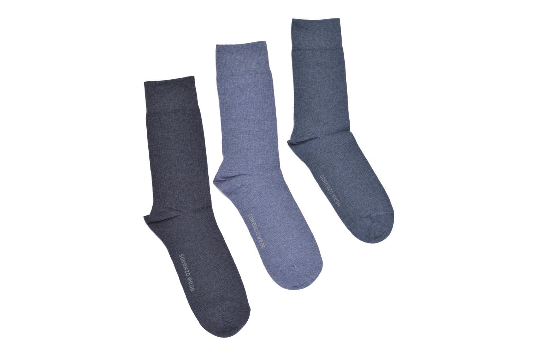 Chaussettes et collants Sarenza Wear Chaussettes Pack de 3 Homme Coto... Bleu vue détail/paire