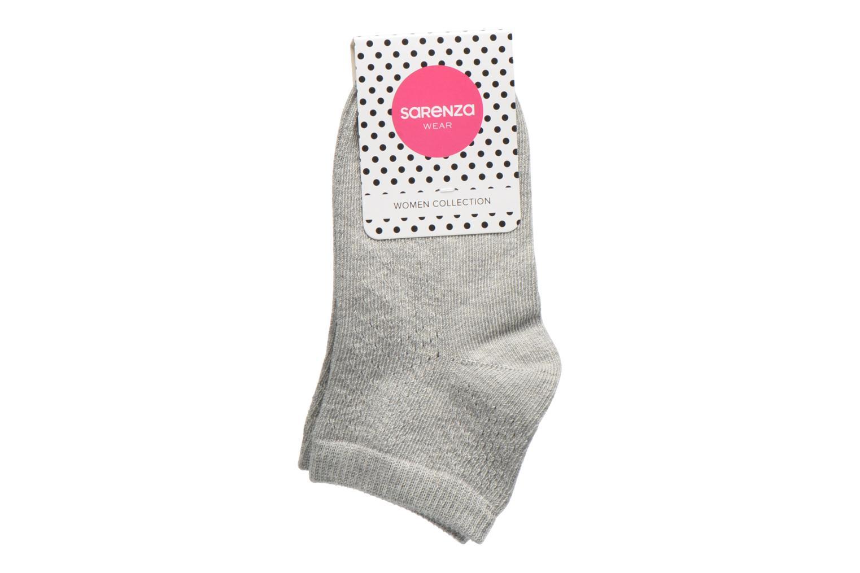 Chaussettes Femme ajourées coton grey melanged Q05