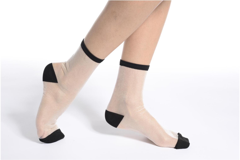 Socken & Strumpfhosen Sarenza Wear Chaussettes transparente Femme weiß ansicht von oben
