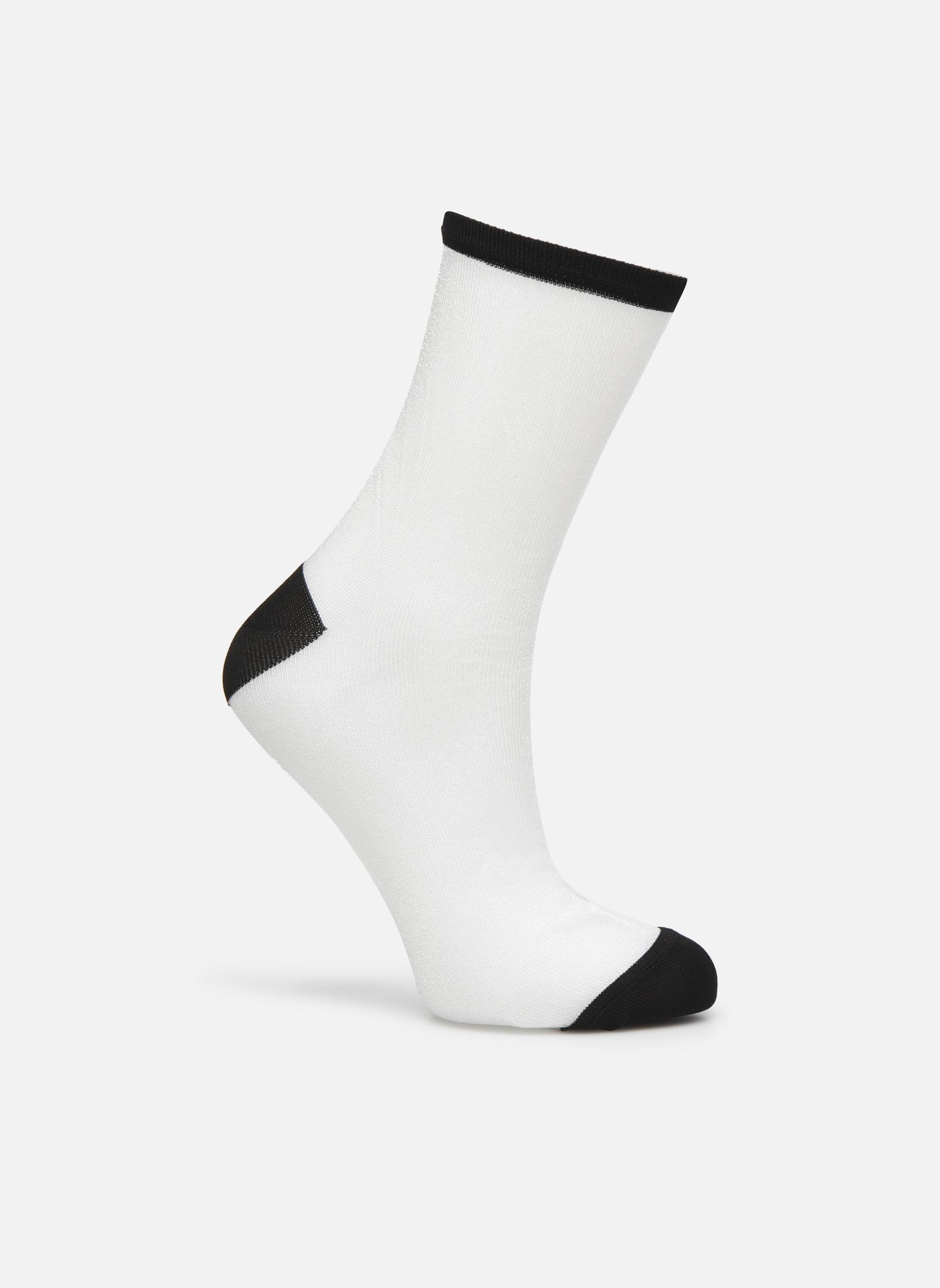 Strømper og tights Sarenza Wear Chaussettes transparente Femme Hvid detaljeret billede af skoene
