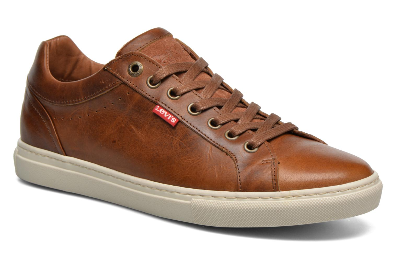 Trainers Levi's Perris Derby Brown detailed view/ Pair view