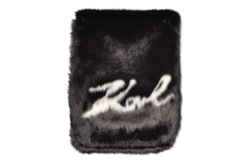 Divers Karl Lagerfeld Holiday Fur scarf Zwart detail